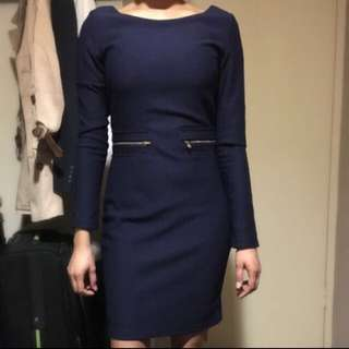 Navy Blue Dress Size Small