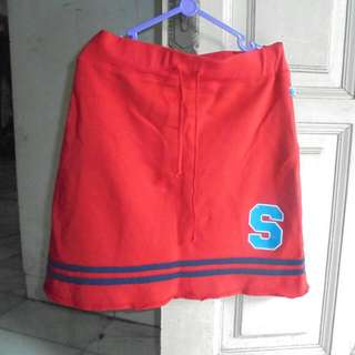 Skirt Baseball Red With Blue Line
