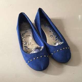 Blue Flat Shoe