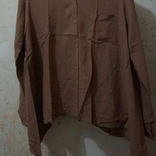 REPRICE Brown Shirts (Kemeja Coklat)