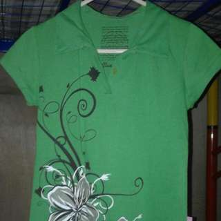 Green Collar Shirt