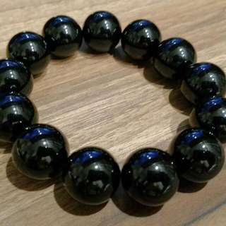 Please Offer Your Best, Thank You.   16mm African Black Tourmaline Beads Bracelet.