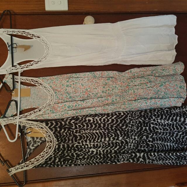 3x Cotton Size S Summer Dress