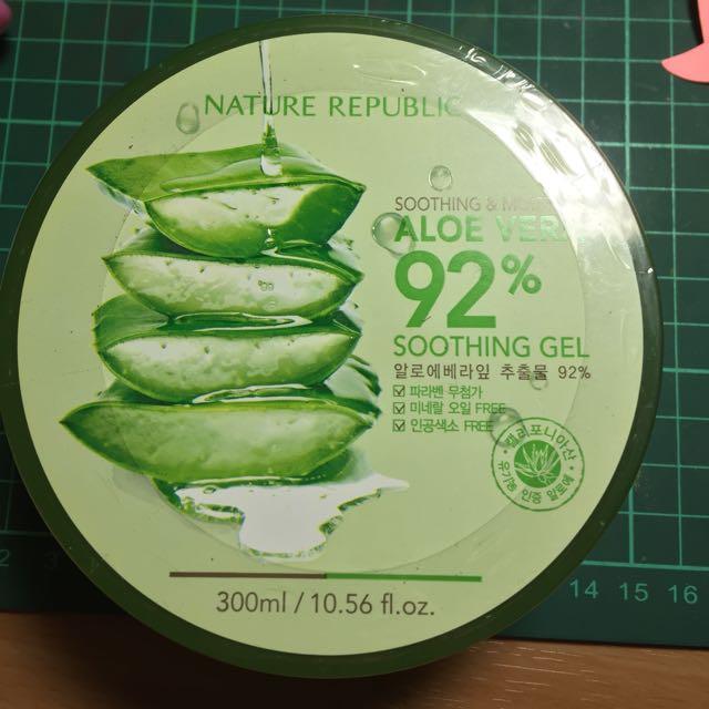 韓國蘆薈保濕92%曬後保養300ml