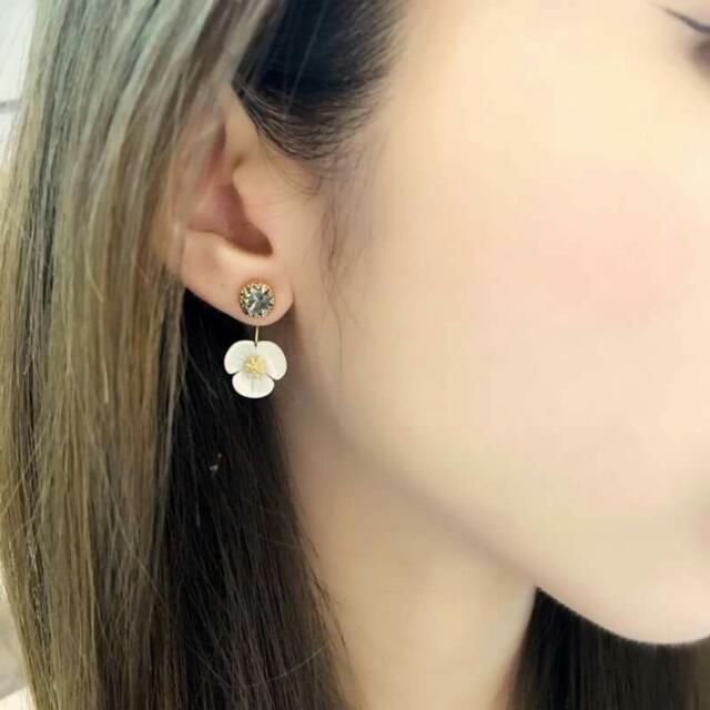 韓國珍珠貝耳環
