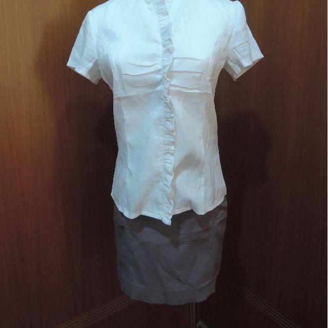正式灰窄短裙