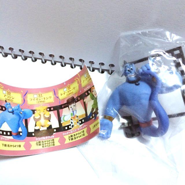 🌸日本帶回 神燈 毛毛蟲 獅子王 電影場景 迪士尼扭蛋