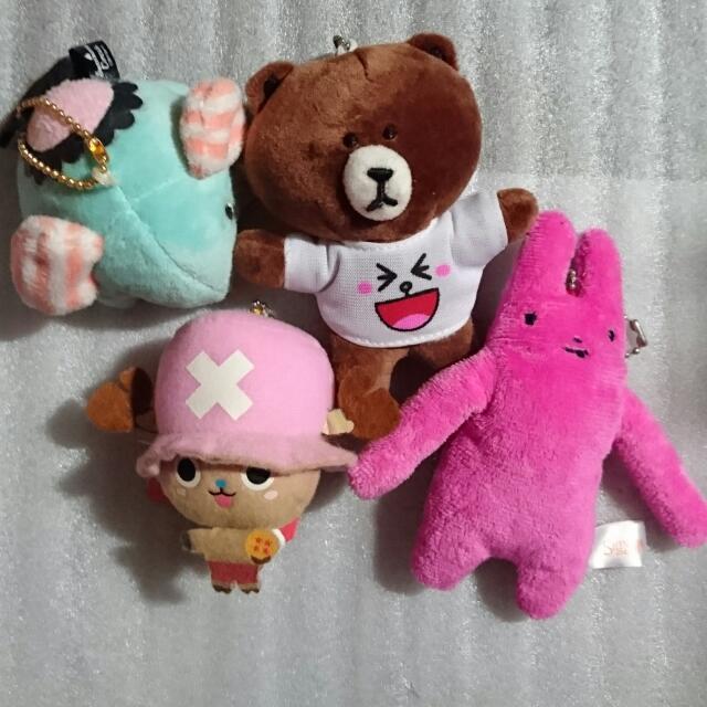 憂傷馬戲團 大象 / line 熊大 / 航海王 喬巴 / 長臂兔