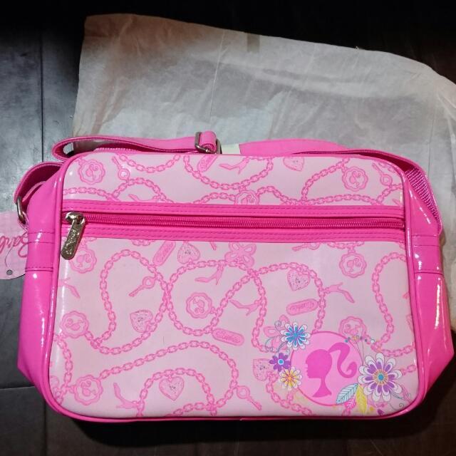 芭比 baraie 粉紅色 側背包
