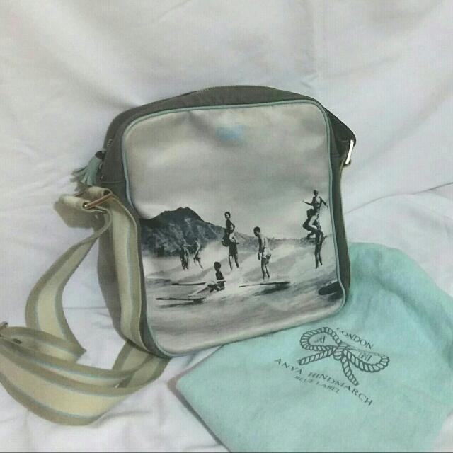 Printed Anya Hindmarch sling bag