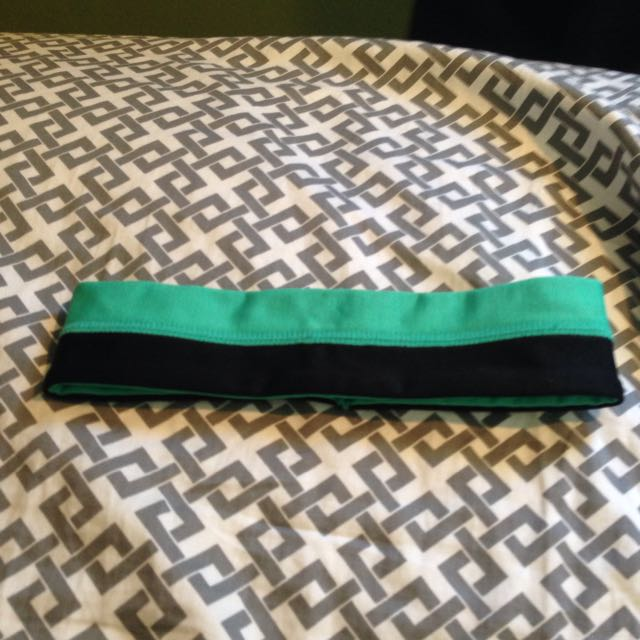 Black And Green Head Band