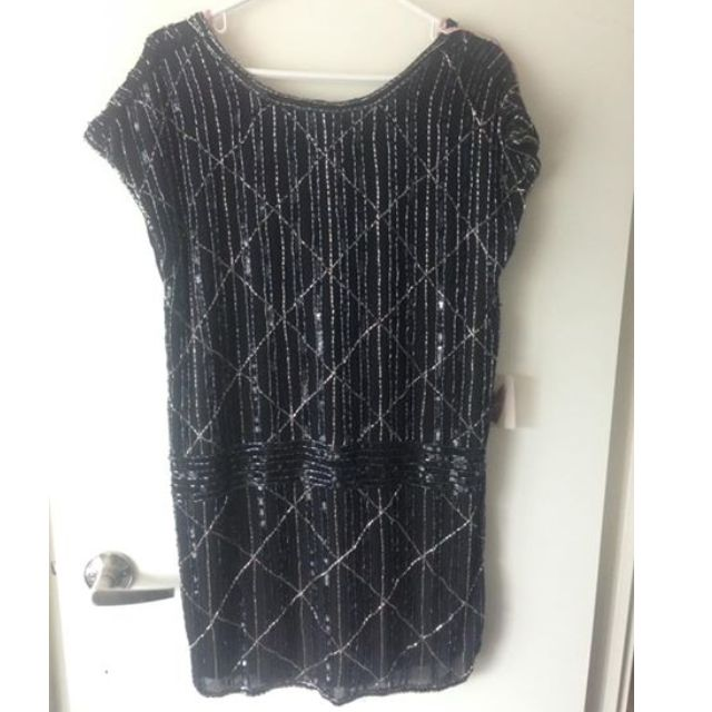 Black sequin dress size small $20