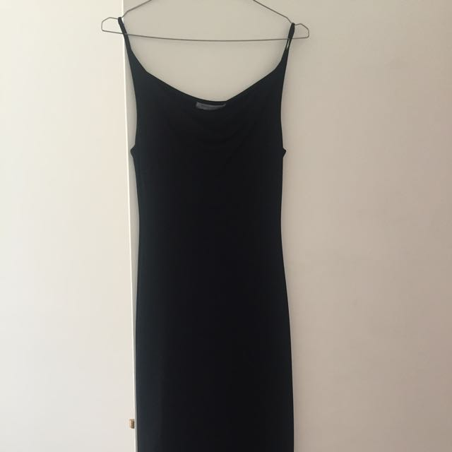 Black sleek Portland Dress