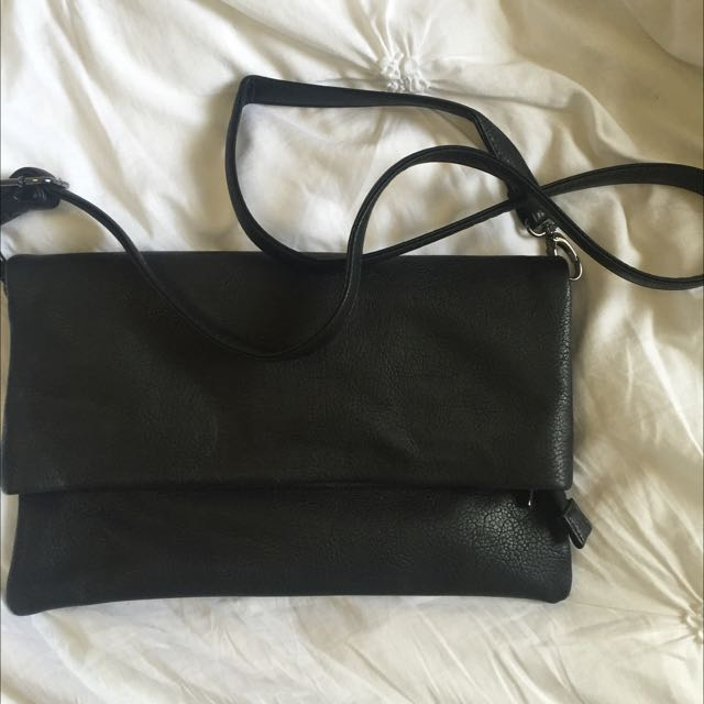 Black Sportsgirl Envelope Clutch