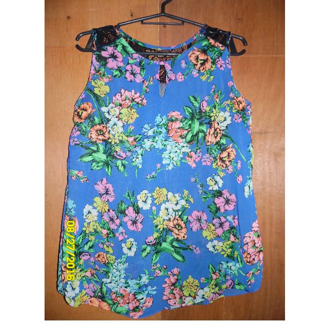 Blue Floral sleeveless