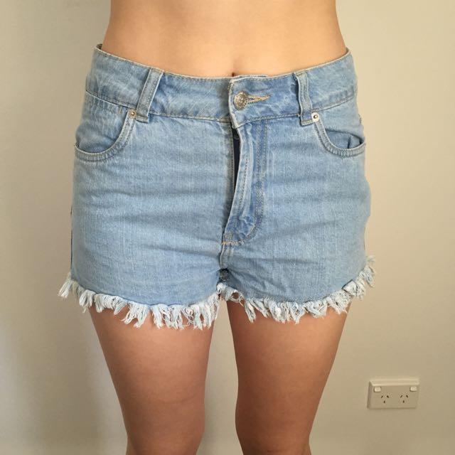Blue Wash Shorts