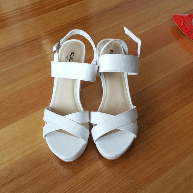 Brand New White Pumps Wedges SIZE 8