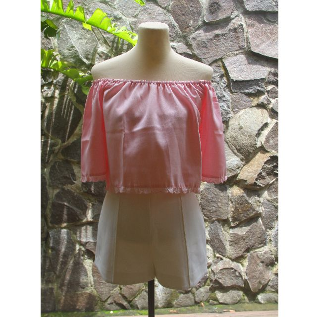 Carisse Pink Off Shoulder