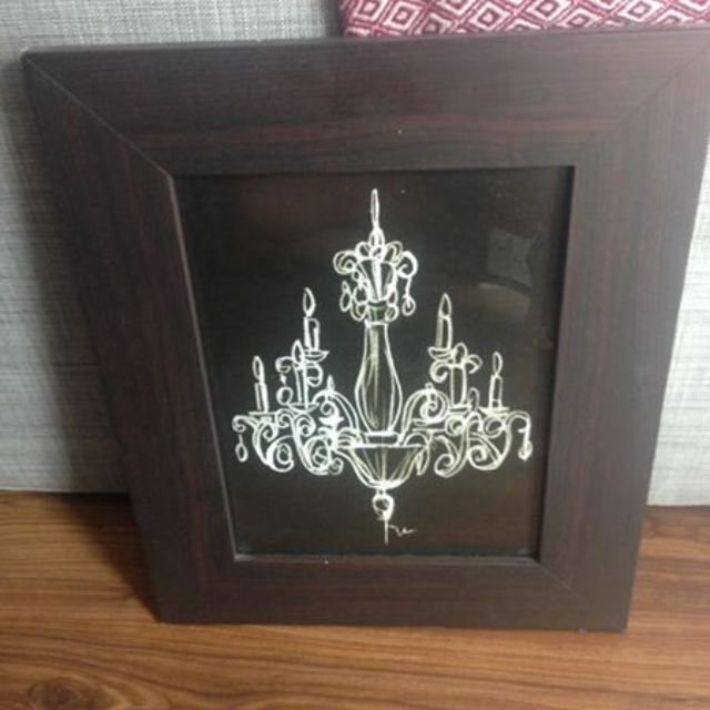 Chandelier Picture with Frame