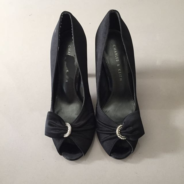 Charles & Keith Black Sexy Shoe