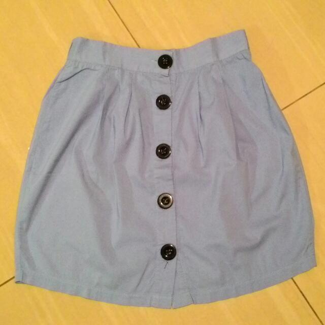 Coloriot Button Skirt