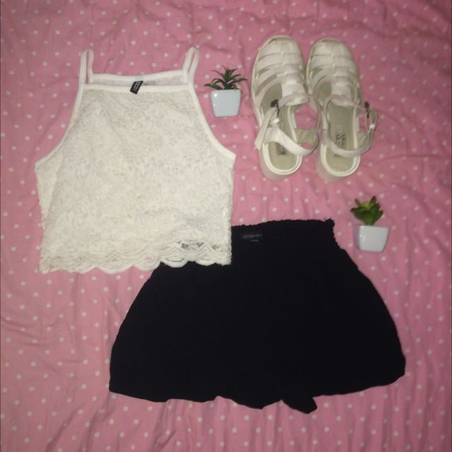 Crop Top and Shoes
