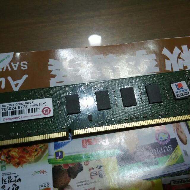 全新品創見DDR3 1600 8G記憶體一隻