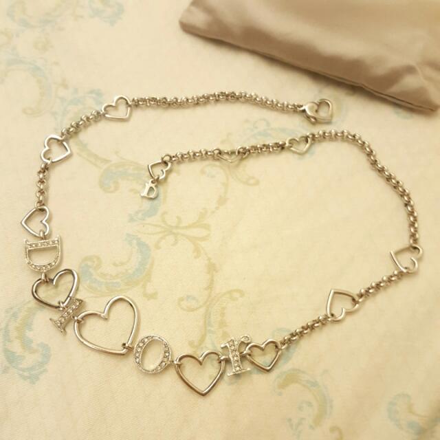 【九成新】Dior 迪奧字母愛心項鍊