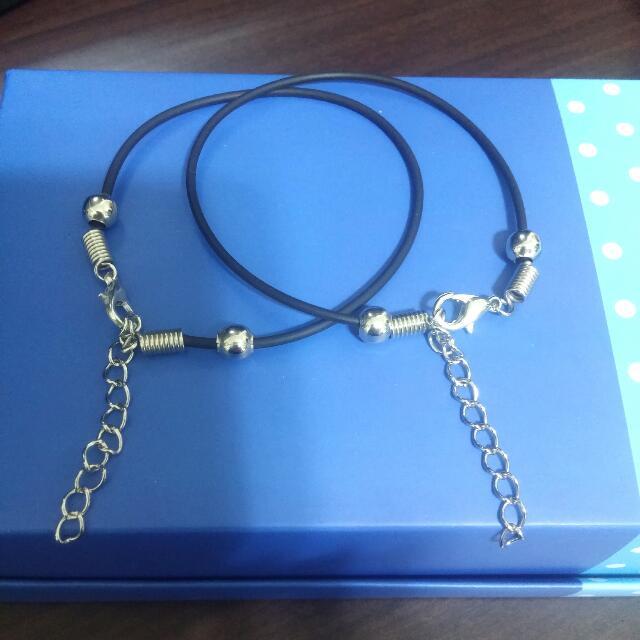 DIY皮繩鐵珠手鍊