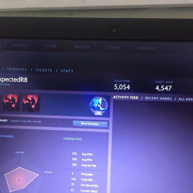 dota 2 account 5k mmr video gaming video games on carousell