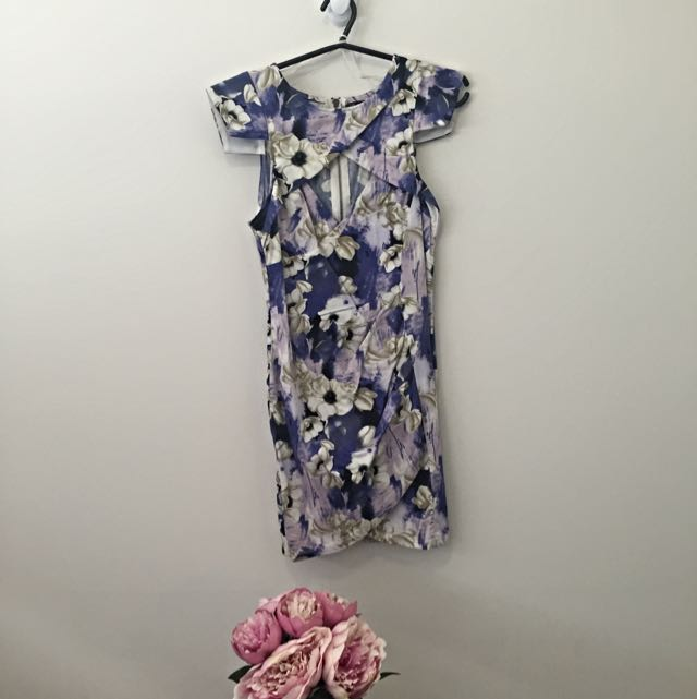 Floral Cut Out Dress