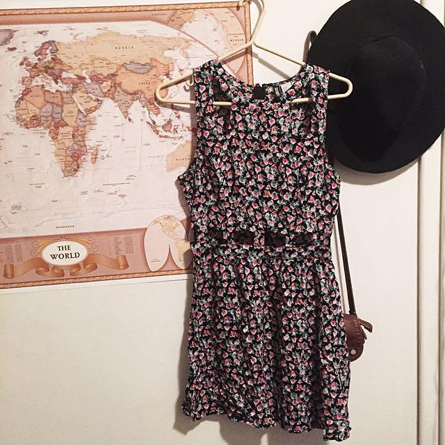 Floral Cutout Dress H&M