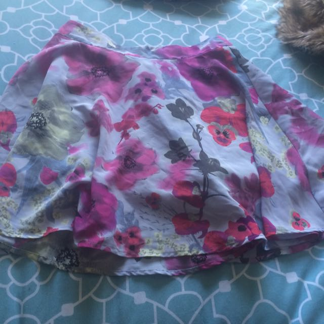Floral Miss Shop Skater Skirt Size 8