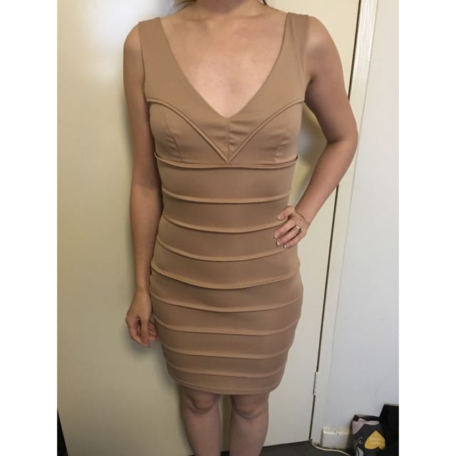 Forcast Nude Dress Size 6