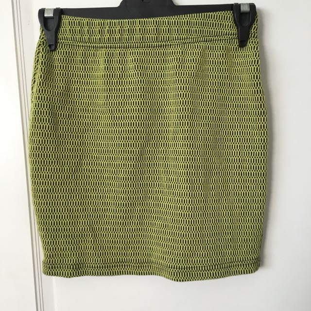 Forever 21 Pencil Skirt Yellow And Black