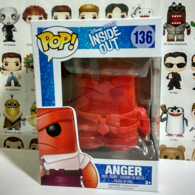 Funko Pop Crystal Anger Vinyl Figure Collectible Toy Gift Movie Inside Out Disney Cartoon Pixar