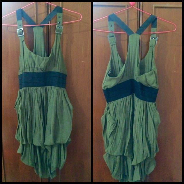 funky dress, Green