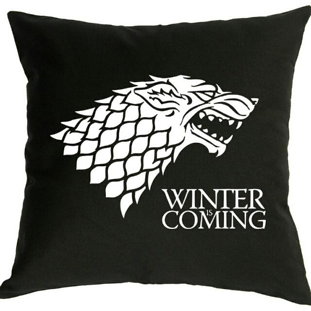 Game Of Thrones House Stark Throw Pillow