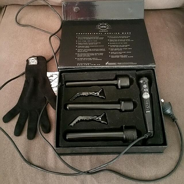 H2D X3 CURLING WAND SET