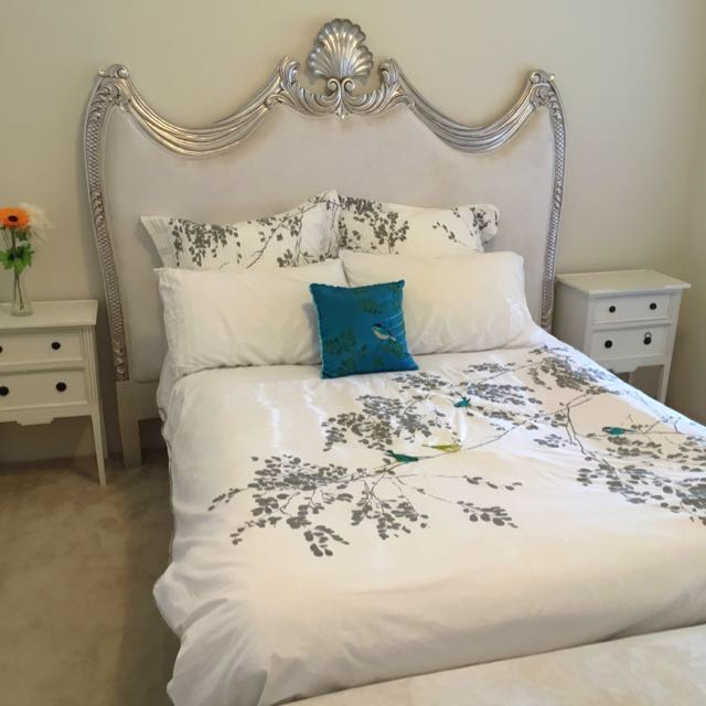 Headboard And Bed End Stool