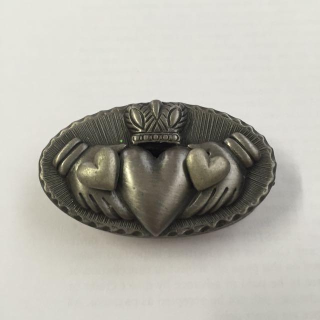 Heart Earrings, Necklace, Pin & Mini Jewllery Box