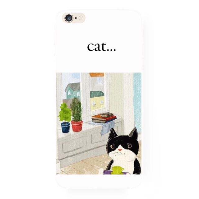 貓咪的日常iPhone手機殼(A)