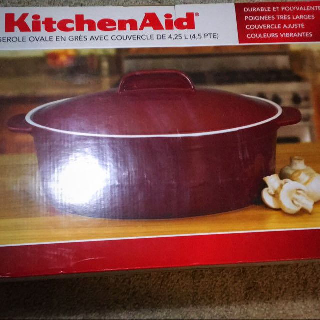 Kitchen Aid Stoneware Casserole With Lid