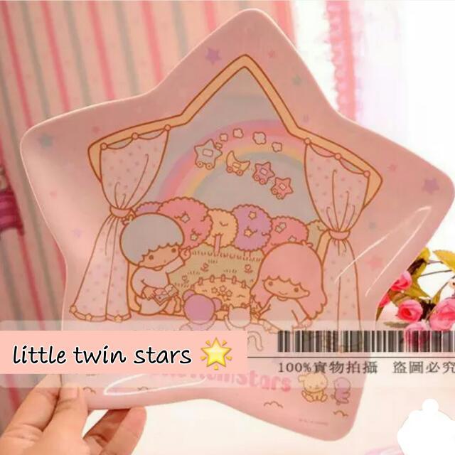 Little Twin Stars Melamine Plate 🌟