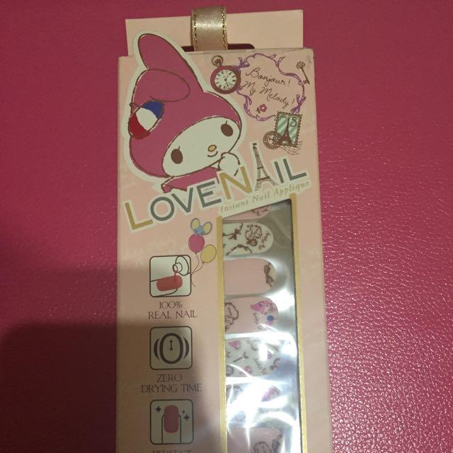 全新Love Nail * Melody 彩繪巴黎持久指甲油貼20片