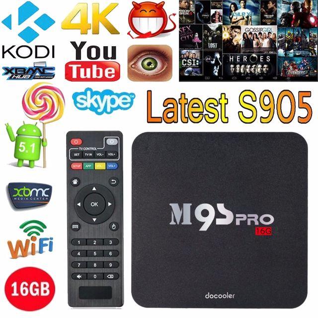 M9S-PRO Smart Android TV Box 4K 2GB Ram 16GB Rom Amlogic S905 Quad Core  XBMC WiFi Mini PC H 265 DLNA Miracast HD Media Player