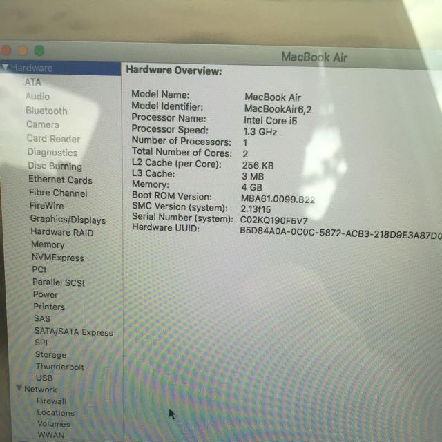 """Macbook Air 13"""" Mid 2013 i5"""