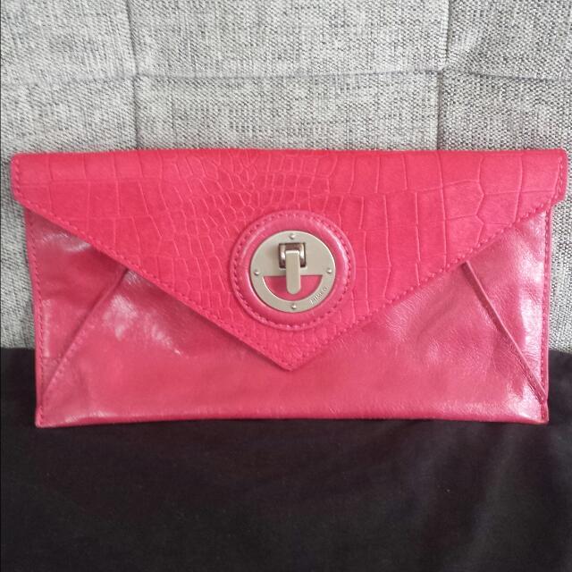 Mimco Mini Molten envelope clutch