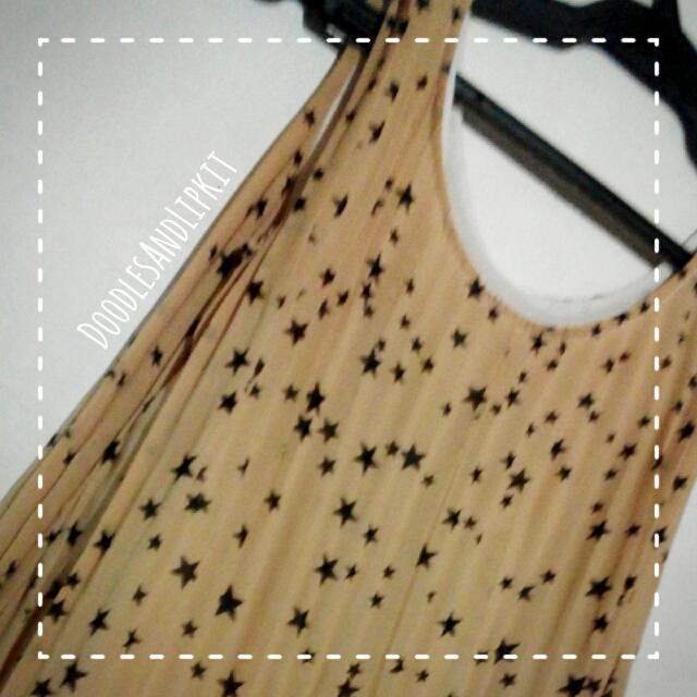 Mini Dress With Star Pattern