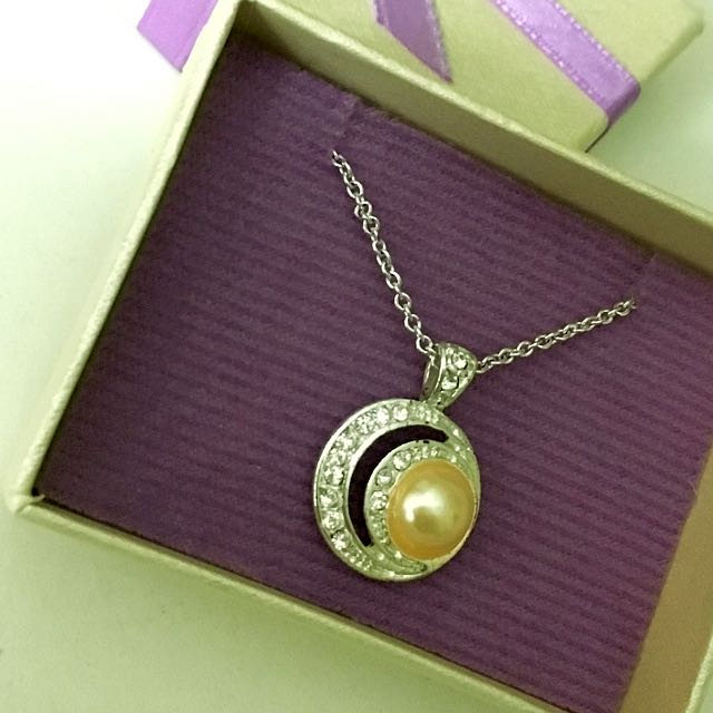Moon Design Pendant Necklace In Giftbox